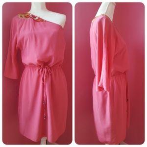 Trina Turk Silk One Shoulder Dress